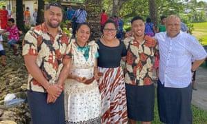 Ilaitia Cokanasiga (far right) with his family.