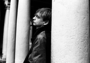 Mark E Smith on tour in the Netherlands.