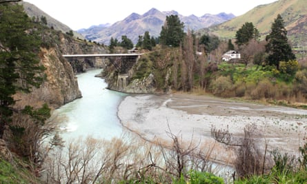 The Waiau river near Hanmer Springs, in New Zealand's South Island. A mountain biker said he saw a cat 'about knee height' in the area.