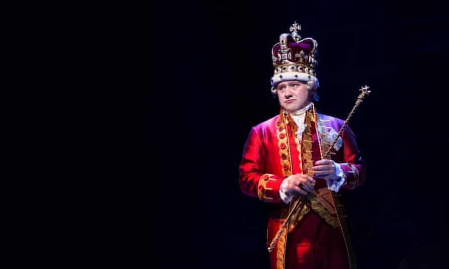 'Petulant': Michael Jibson as King George.