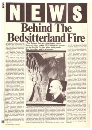 A report on the Clanricarde Gardens fire in 1981