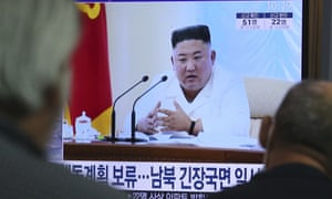 A screen at Seoul railway station showing North Korean leader Kim Jong-un on a news program on Wednesday after he blocked plans to up the ante with the South.