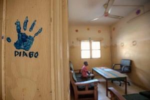 child in a slavery rescue centre