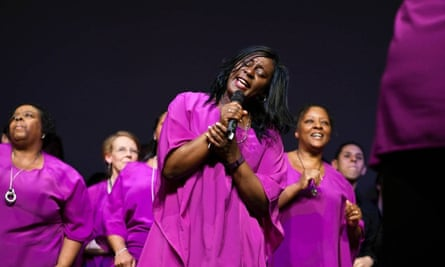 The Hope Community Gospel choir from Beeston, which now has up to 8o people at rehearsals.
