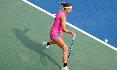 Victoria Azarenka in their quarter-final of her triumphant Western and Southern Open campaign this year.
