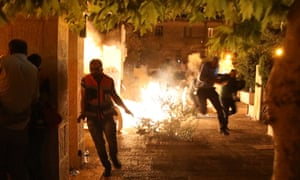 Fresh clashes broke out after the second evening prayers had finished late on Tuesday, with police using volleys of stun grenades to clear the streets.