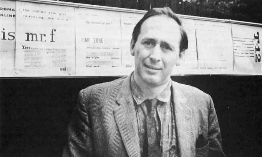 JG Ballard, pictured with his billboard plans in 1960.