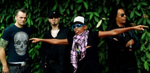 Skunk Anansie in 2009 … from left Mark Richardson, Ace, Skin and Cass Lewis.