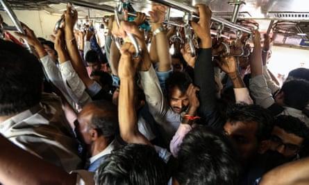 A local commuter train in Mumbai
