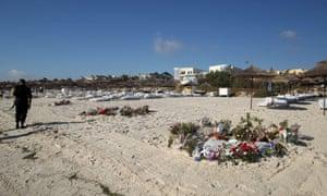 Flowers on beach