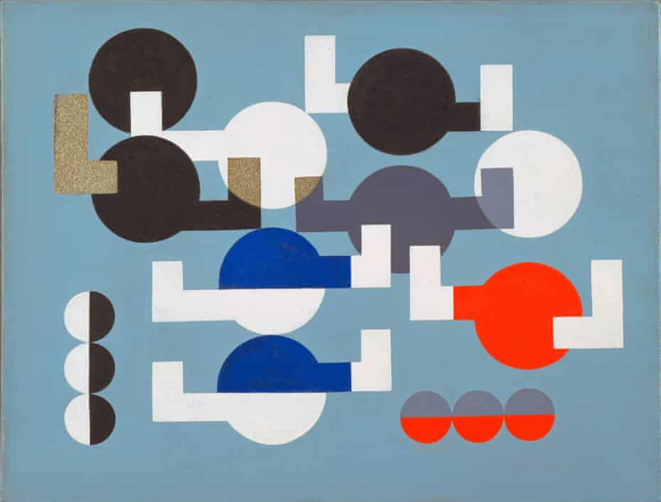 Composition of Circles and Overlapping Angles, 1930 by Sophie Taeuber-Arp.