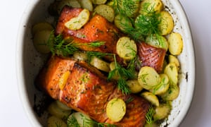 Catch of the day: hot-smoked salmon, potatoes and dill.