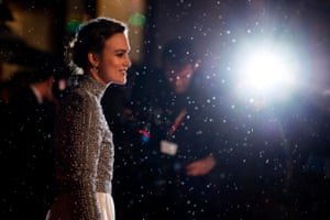 Keira Knightley arrives at the premiere of Colette at the BFI London film festival on 11 October 2018