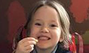 Violet-Grace Youens, four, died in hospital after she was hit by a stolen car.