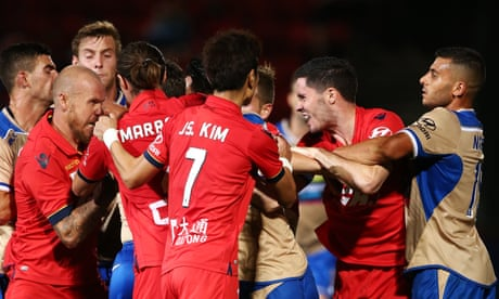 A-League: Adelaide United too good for Newcastle Jets in heated encounter
