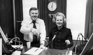 Jimmy Young with Margaret Thatcher in the early 1980s. She appeared on his show 14 times.
