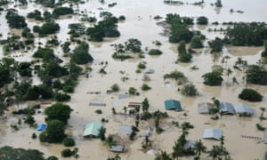 Flooding in Kalay in Burma's Sagaing region, which has been declared a disaster zone.