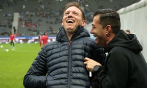 Could Julian Nagelsmann, left, be on his way to north London?