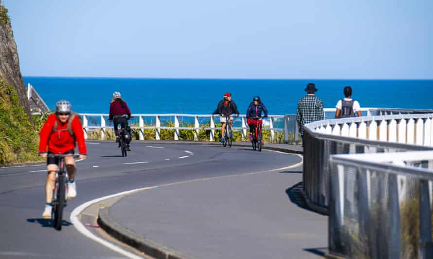 Cyclists in Wellington