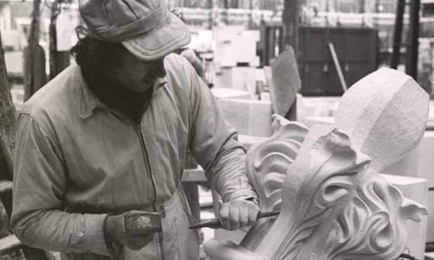 Keith Short undertaking restoration work for Westminster Abbey