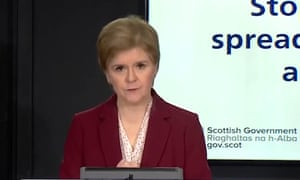 Nicola Sturgeon introduced a travel ban between Scotland and the rest of the UK.