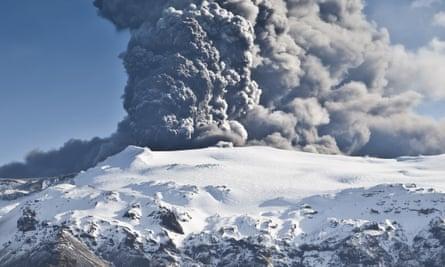 Eyjafjallajökull erupts.