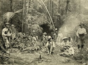 <em>Native Dinner-Time</em>, illustration from Albert Millican's <em>Travels and Adventures of an Orchid Hunter</em> (1891).