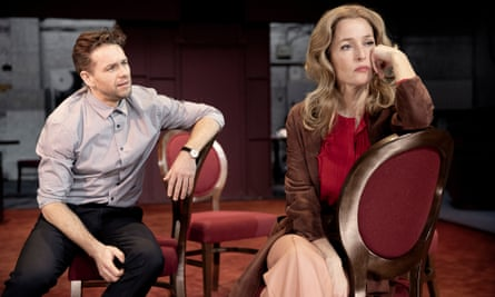 Julian Ovenden and Gillian Anderson in All About Eve.