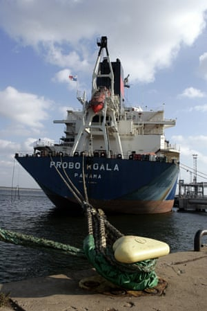 The Probo Koala, a tanker chartered by Trafigura, dumped toxic waste in the Ivory Coast in 2006.