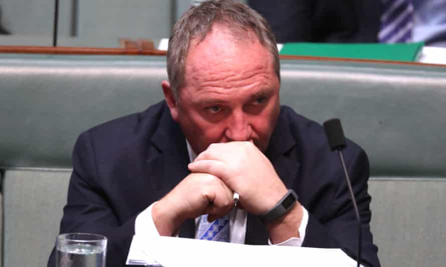 Barnaby Joyce in question time on Tuesday.