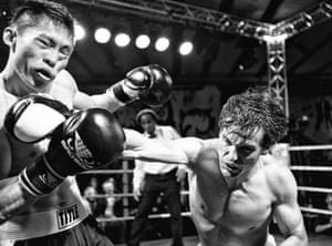 Chessboxing in 2012 Here Bryan Woon and Sean Mooney battle it out during the boxing part of the event that took place in the Loading Bay of the Royal Albert Hall.