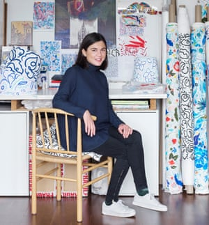 Claire de Quenetain in her studio