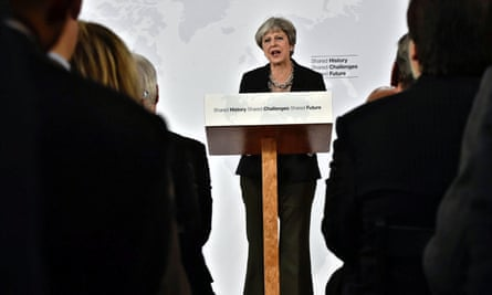Theresa May speaking in Florence on 22 September 2017. 'This was a surrender to the exigencies of the ticking clock, camouflaged as a statement of continental solidarity.'