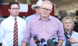 Prime minister Scott Morrison speaks to reporters during a visit to the Beef Australia Expo in Rockhampton, Queensland