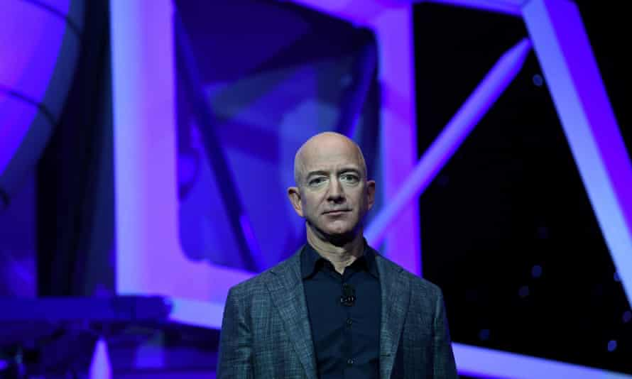 Jeff Bezos is worth $180bn, making him the richest person in the world.