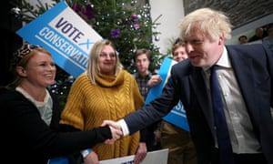 Boris Johnson on the campaign trail in Colchester.