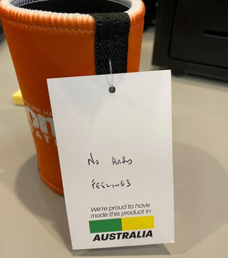 One Nation stubby holder sent to north Melbourne tower residents