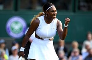 Serena Williams celebrates during her win over Giulia Gatto-Monticone.