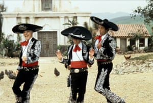 Steve Martin, Martin Short and Chevy Chase in Three Amigos!