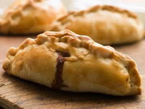 If you have to serve a pasty on something, a wooden board is preferred.