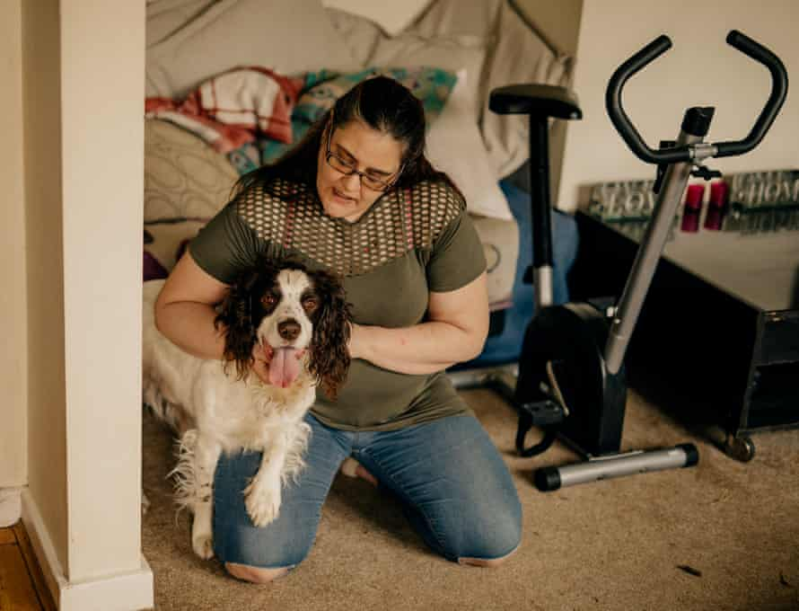 Donna Botting at home with Ronnie.