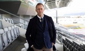 Heimir Hallgrímsson, the Iceland manager, at their national stadium