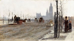 Starting point … the painting that sparked Van Gogh's love of London: The Victoria Embankment, London, 1875, by Giuseppe de Nittis.