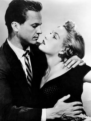 Ralph Meeker and Marian Carr in Kiss Me Deadly, 1955, directed by Robert Aldrich