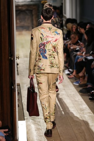 A model on the Valentino spring/summer 2015 catwalk.