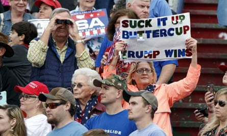 Trump supporters at a victory rally in Mobile, Alabama.