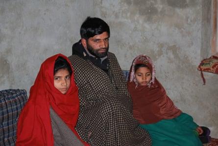 Abdul Aziz Khatana and her children at their winter home.