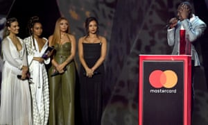 Little Mix present Stormzy with the best British male solo artist award