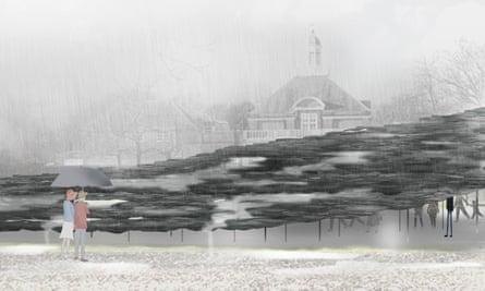Junya Ishigami's design for the 2019 Serpentine pavilion.