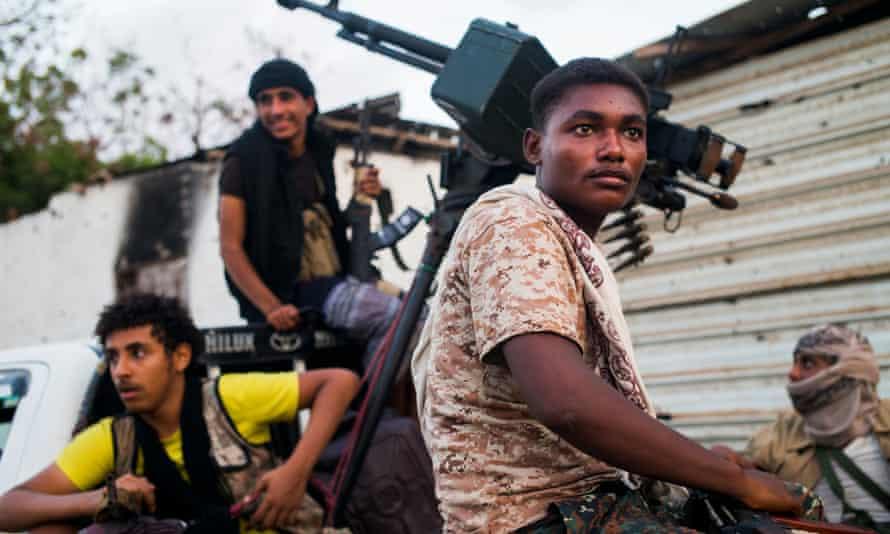 Militiamen in Aden.